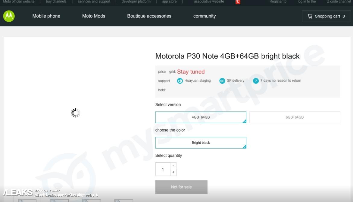 Moto P30, P30 Play, P30 Note leak