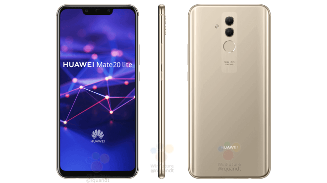 Huawei Mate 20 Lite Press Render