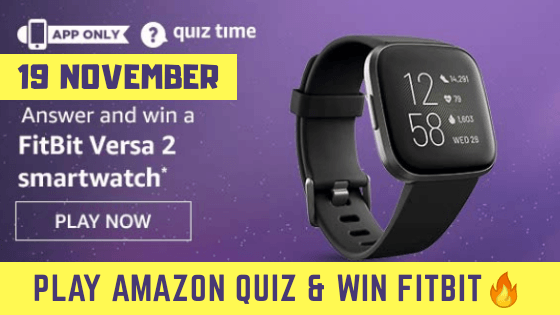 19 November Amazon Quiz