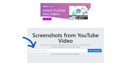 Screenshots from any YouTube